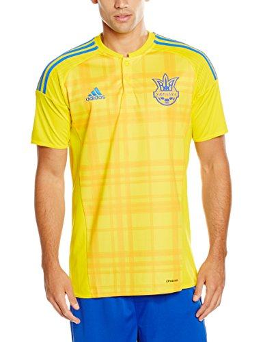 adidas Herren Trikot Ukraine Heim Replica, Yellow/Bold Gold/Blue, M, AC5580