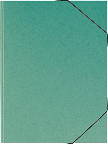Brunnen 104708359 Sammelmappe (A3, Karton, mit Gummizug) grün