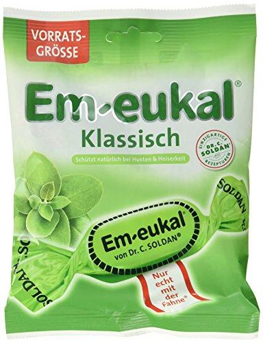 Em-Eukal Klassisch Hustenbonbons mit Zucker, 12er Pack (12 x 150 g Beutel)