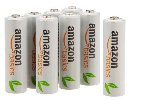 AmazonBasics Vorgeladene Ni-MH AA-Akkus – Akkubatterien (1.000 Zyklen, typisch 2000mAh, minimal 1900mAh) 8 Stck (Äußere Hülle kann von Darstellung abweichen)