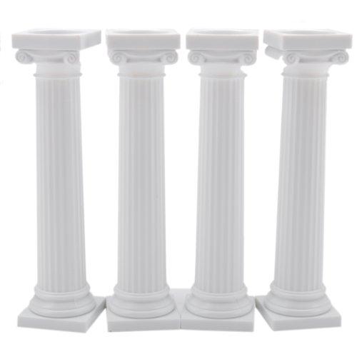 Griechische Tortensäulen, 12,5 cm, zum Aufsetzen, 4 Stück