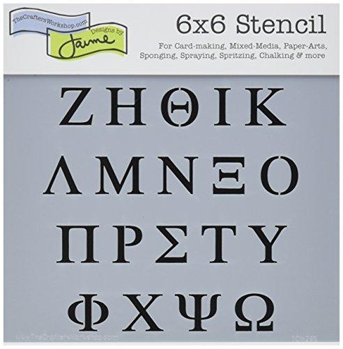 Crafters Workshop 6x 6Griechische Buchstaben Vorlage