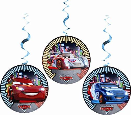 Zum Aufhängen Neon Disney Cars Party Dekorationen, 3Stück