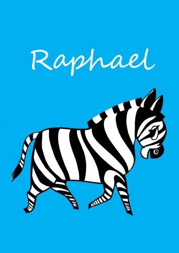 Malbuch / Notizbuch / Tagebuch – Raphael: DIN A4 – blanko – Zebra