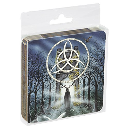 "Tree Free Grußkarten 52499 9,5 x 9,5 cm, Songtext-Motiv ""Peter"" Amheirgin Pracownik, Untersetzer mit Kork-Rückseite, 4er-Set"