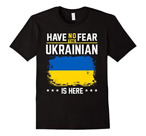 Ukraine Ukrainians Funny Flag T-Shirt Have No Fear Shirt Herren, Größe L Schwarz