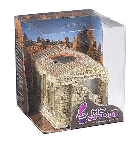 Hydor B06100 Aquariendekoration Classic Age Griechischer Tempel, Höhe 10 cm