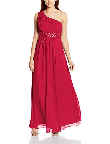 Astrapahl Damen Kleid One Shoulder mit Pailletten, Maxi, Einfarbig, Gr. 40, Rosa