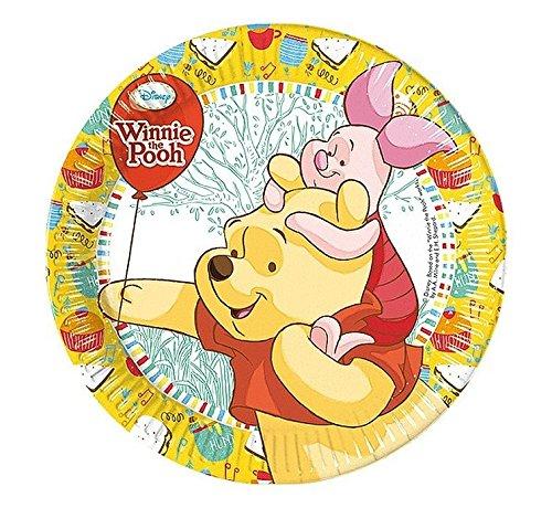 Talerzyki papierowe Winnie Sweet Tweets 20 cm 8 sztuk