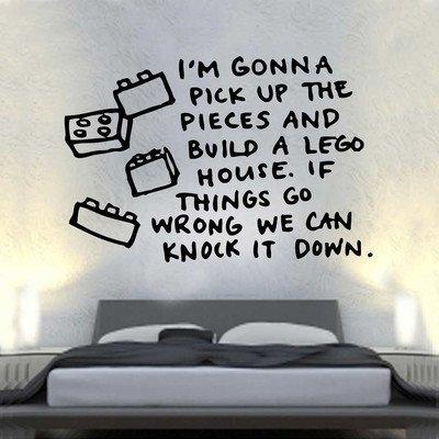 Kult Kanvas Wandaufkleber, Motiv: Lego House Songtext (ml8), beige, Large 60cm x 89cm