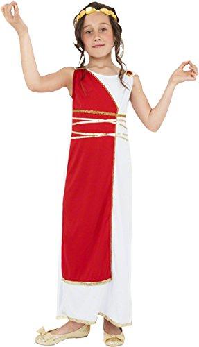 Smiffys Kinder Griechisches Mädchen Kostüm, Robe und Kopfbedeckung, Größe: M, 38775