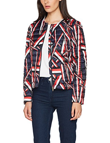 Tommy Hilfiger Damen Catherine Collarless Lw Down Jkt Jacke, Blau (Global Stp Blue), 4 (Herstellergröße: XX-Small)