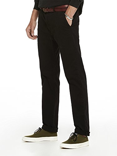 Scotch & Soda Herren Hose Blake-Stretch Baumwollepleated Trousers | Relaxed Slim Fit Schwarz (Black 0008), W33/L32