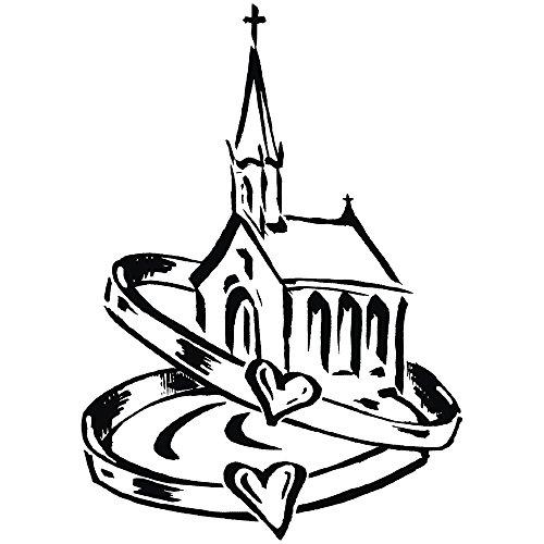 RAYHER 28789000, H.- Stempel Kirche mit Eheringen, 7 x 9 cm, Artikel 27824