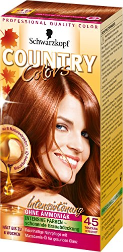 Schwarzkopf Poly Country Colors Toscana Herbstrot 45, 112,5  ml, 2er Pack (2Schwarzkopf)