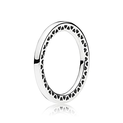 Klassischer Pandora Damen Ring Klassische Unendliche Herzen in silber mit seitlich ausgestanzten Herzen