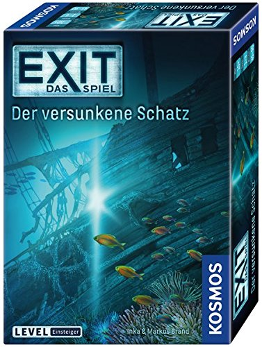 """KOSMOS Spiele 694050 -"""" EXIT – Spiel: versunkene Schatz"""" Brettspiel"""