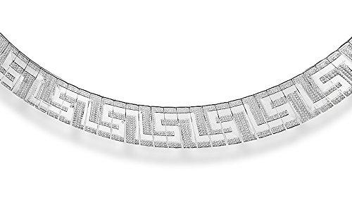 Tuscany Silver Halskette Sterling Silber Stil Griechisch Detail 43cm
