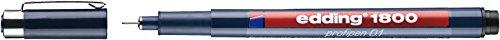 Edding 1800 Profipen Faserstift für technische Zeichnungen, 10er-Pack, 0,1 mm Spitze, schwarz