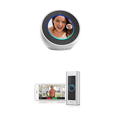 Amazon Echo Spot - White and Ring Video Doorbell Pro