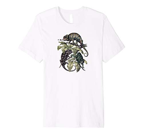 Drei Chamäleons Zeichnung T-shirt