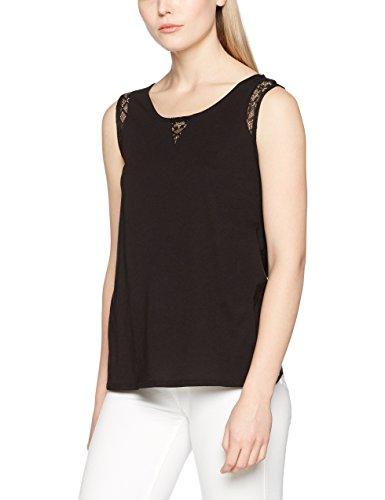Naf Naf Damen T-Shirt PROSA T1, Schwarz (Noir 625), M