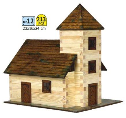 Walachia 8594036430129 - Nr. 12 Kirche Holz Modellbauset, Modellbahn Spur 1/ LGB 1:32