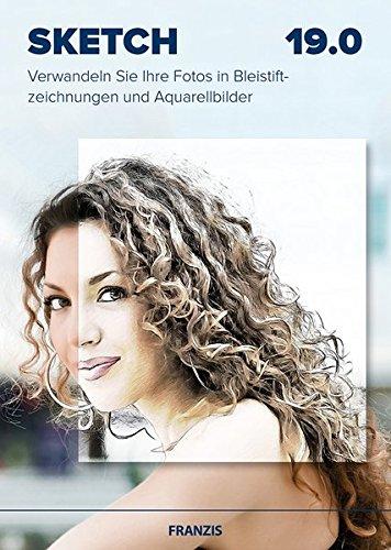 Franzis Sketch 19.0|19.0|Für bis zu 3 Geräte|Verwandeln Sie Ihre Fotos in Bleistiftzeichnungen und Aquarellbilder|Bildbearbeitungssoftware für PC & Mac|Disc|Disc