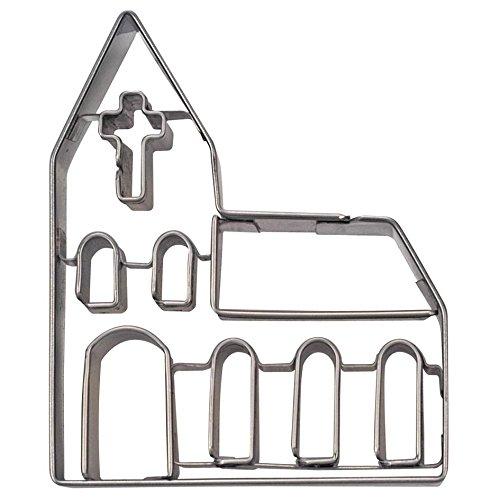 Städter Ausstechform Kirche, Edelstahl, Silber, 10.5 x 10.5 x 3 cm