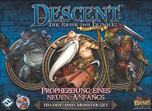 Fantasy Flight Games FFGD1327 Descent 2. Ed. -Prophezeiung Anfangs