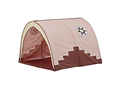 Hoppekids Tunnel/Höhle Indian Girl für Hochbett, Halbhochbett, Spielbett Breite 90 cm, Textil, Pfirsich, 90 x 73 x 102 cm