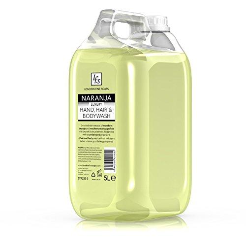 London feine Seifen byr235–5LFS Naranja Luxus Hand-Haar-Körper Waschen, 5l (2Stück)