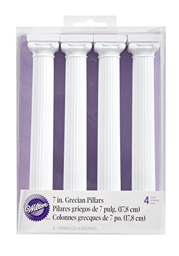 Städter 303-3705 Griechische Tortensäulen, Kunststoff, Weiß, 6 x 6 x 17.8 cm, 1 Einheiten