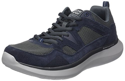 Skechers Herren Quantum-Flex-Country Walker Sneaker, Blau (Navy/Grey), 44 EU